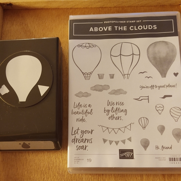 Stampin Up ABOVE THE CLOUDS stamp punch